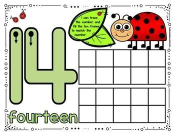 Spring Math Center Playdough Number Mats 11 20 Ladybug