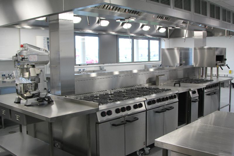 Kitchen Design Qualifications space installs a new food technology training kitchen that enables