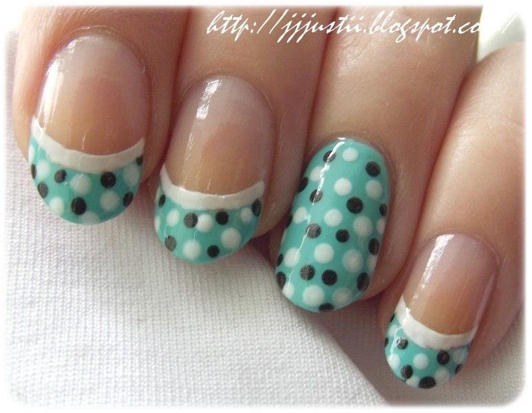 White black teal mint aqua party french tip dot dotting nails white black teal mint aqua party french tip dot dotting nails nails diy nail prinsesfo Image collections
