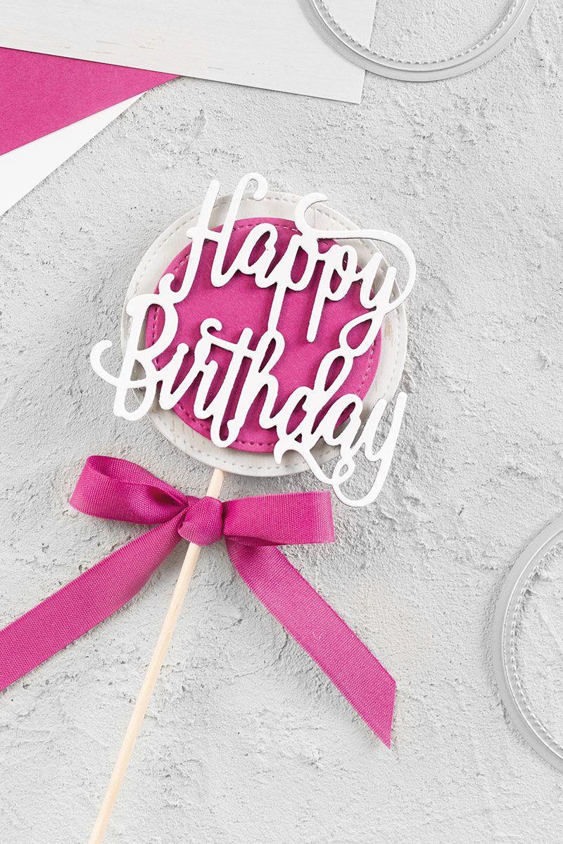 Cake Topper Happy Birthday Basteln Mit Stampin Up