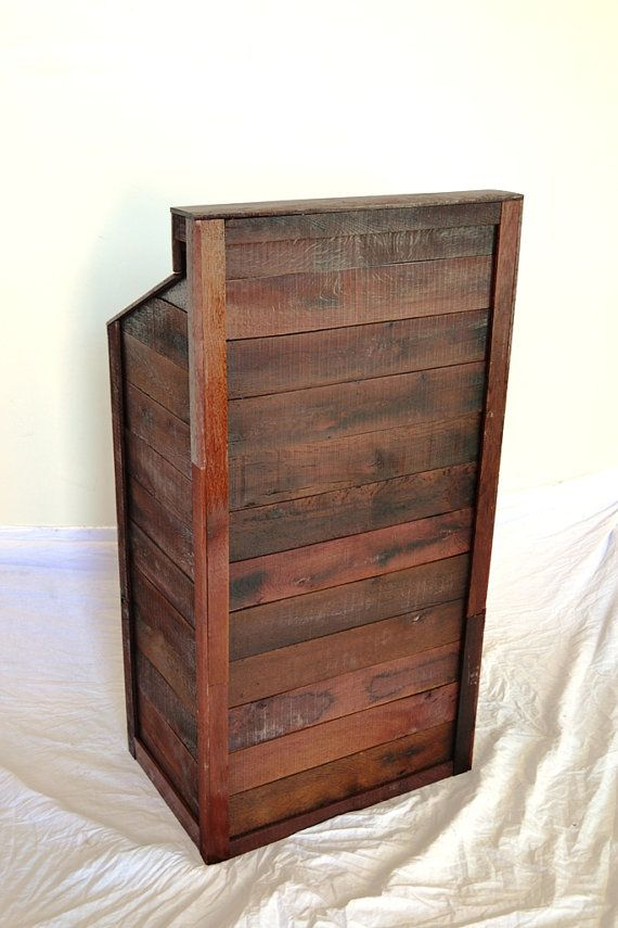 Hostess stand quot podium recycled wine soaked oak