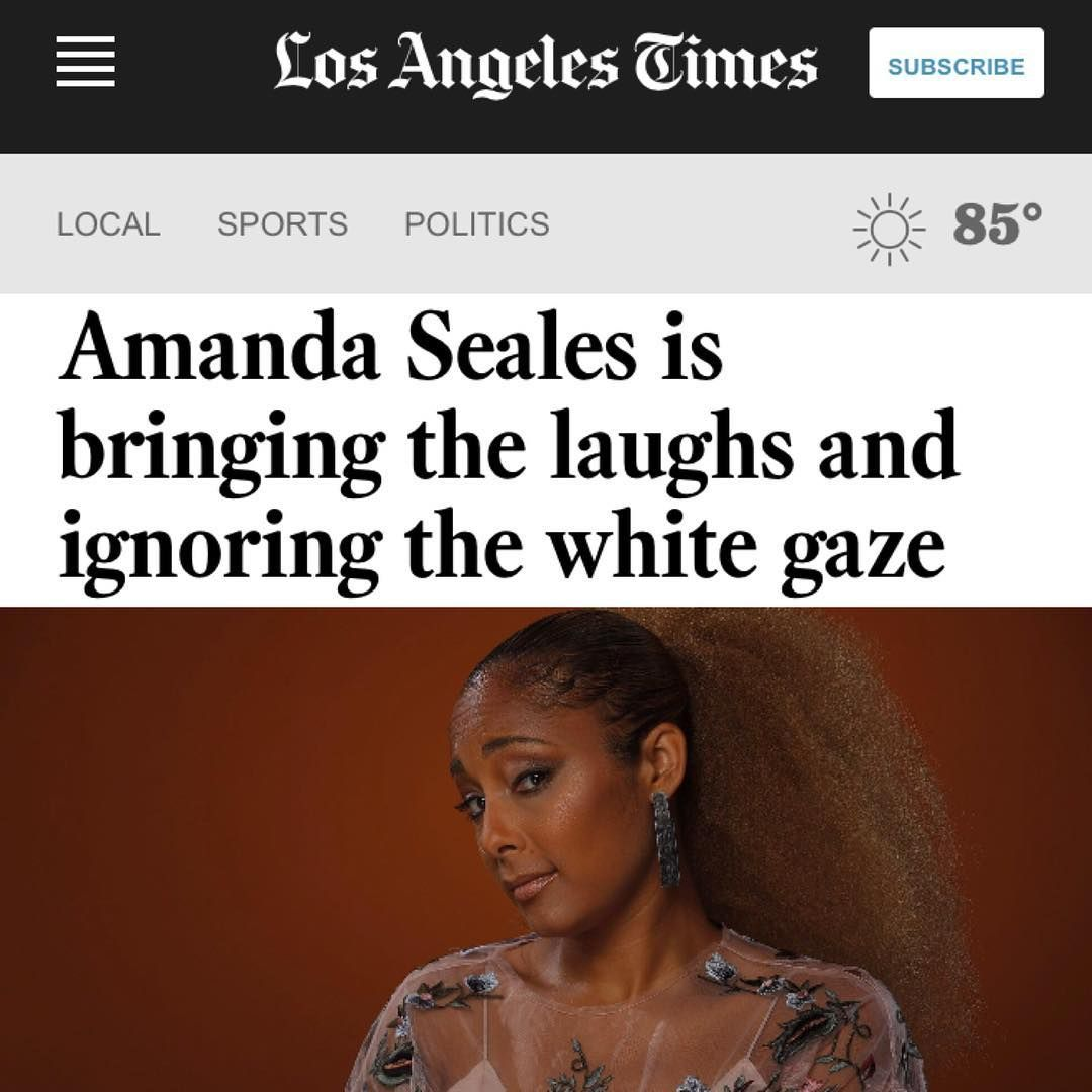 """7,500 Likes @amandaseales """"Thank you to writer, Tre'vell Anderson @rayzhon & @latimes for this banging ass (and accurate)…"""""""