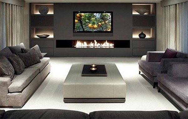Perfekt Very Luxury Living Room With Fireplace Design