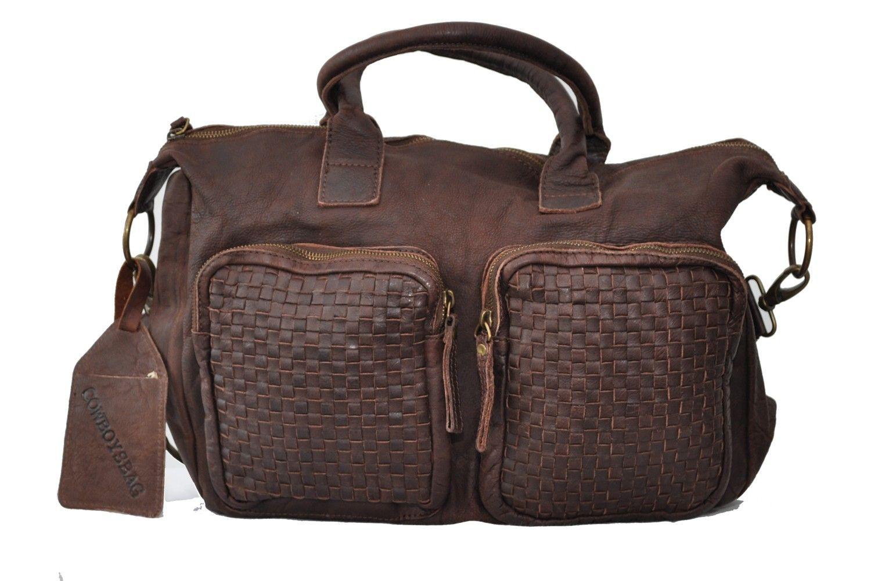 cdc538eeb134 Cowboysbag BAG WICHITA Orignal Ledertasche von Cowboysbelt Braun Leder  Taschen