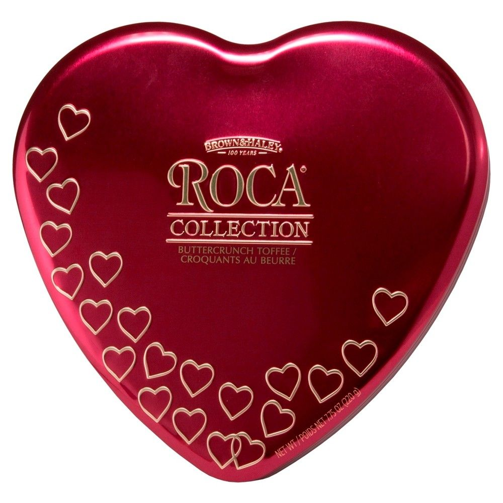 Roca Collection Heart Tin 7.75 oz | Toffee candy, Gourmet ...