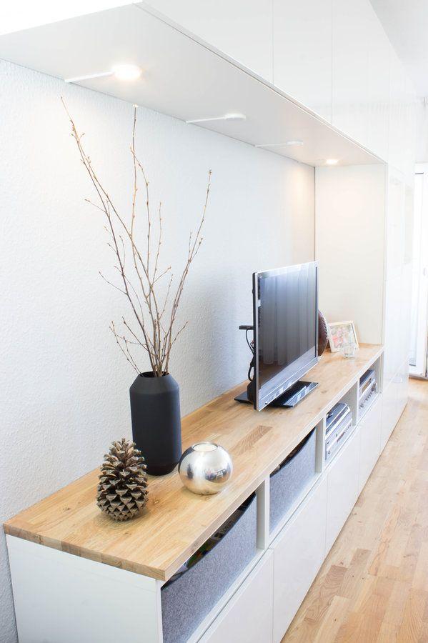 Mooi Tv Meubel Onvindbaar? Ikea Besta Kastjes Met Steigerhouten ... Bild Wohnzimmer Besta