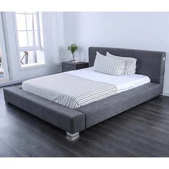 Tori Upholstered Low Profile Platform Bed Low platform