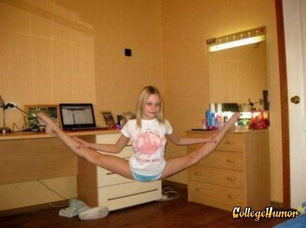 Girl Doing Extreme Splits  Creativity  Gymnastics, Funny -4859