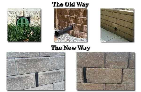 Wall Drain Pro Retaining Wall Inspiration Wall Wall