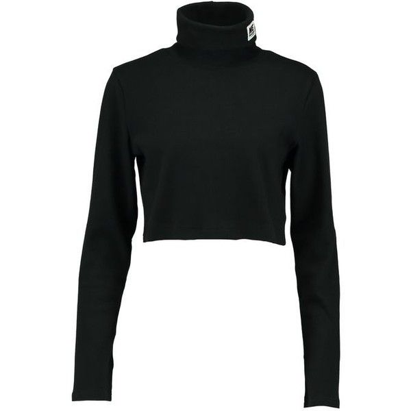 b7f364fbb40 Reebok Classic MELODY EHSANI CROP TURTLENECK T-shirt långärmad ❤ liked on  Polyvore featuring tops