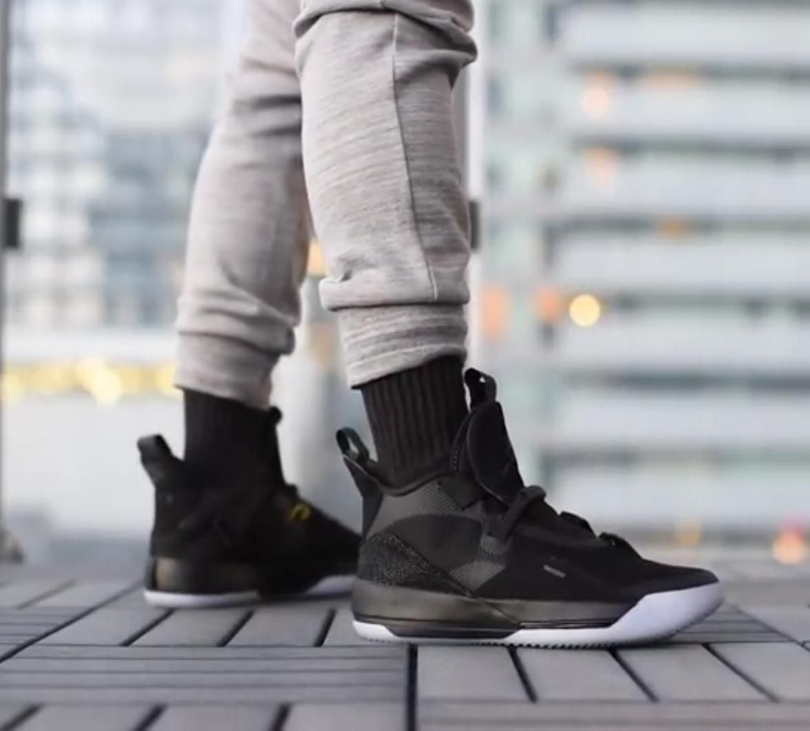 90d87f7d51387a Air jordan 33 utility blackout on feet look original video by Sean Go (Link  in