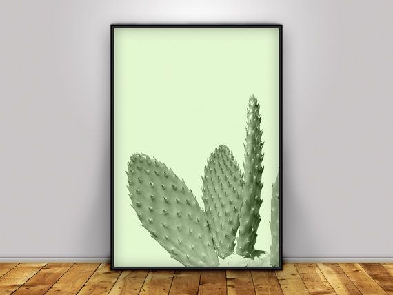 Cactus print Neutral Decor Cactus Art Cactus Poster by PrintmyInk