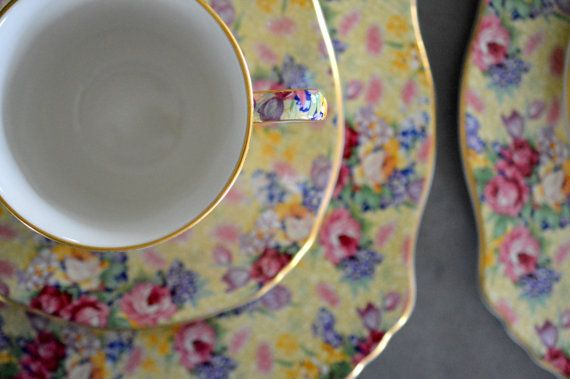 Royal Winton Grimwades Welbeck Chintz Tea Service For 4