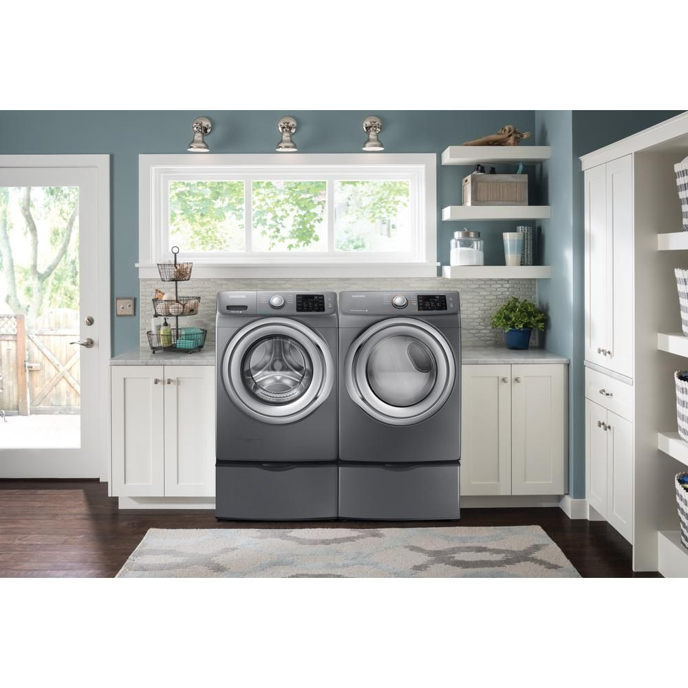 Front Load Washer With Steam In Platinum, ENERGY STAR
