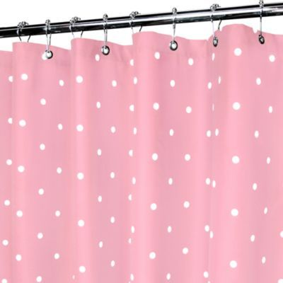 Pink and White Polka Dot Spots Curtains 72s
