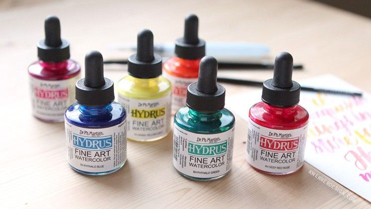 Dr Ph Martin S Hydrus Liquid Watercolor Diy Palette First