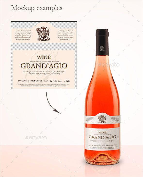Search 100+ Free Wine Bottle Design Templates in 2018 Mockup, Wine