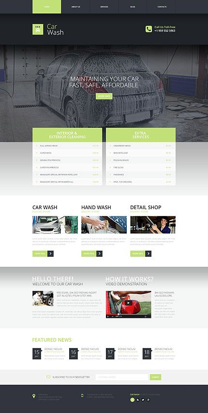 Car Wash Services #website #template. #themes #business #responsive
