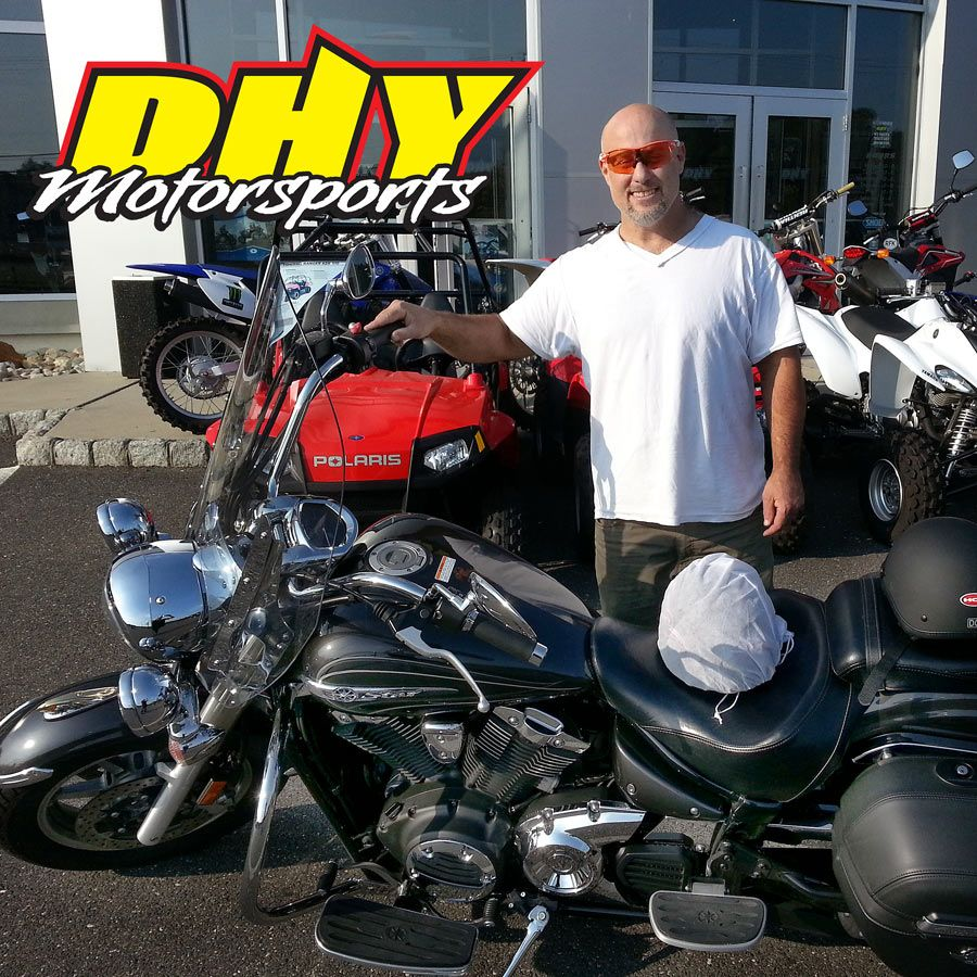 Congratulations to Pete who keeps adding to his personal collection with this 2012 #Yamaha #Vstar1300Tourer He's ready to roll in style and comfort and we were glad to help him get there. #mynewride #dhynj #tourer