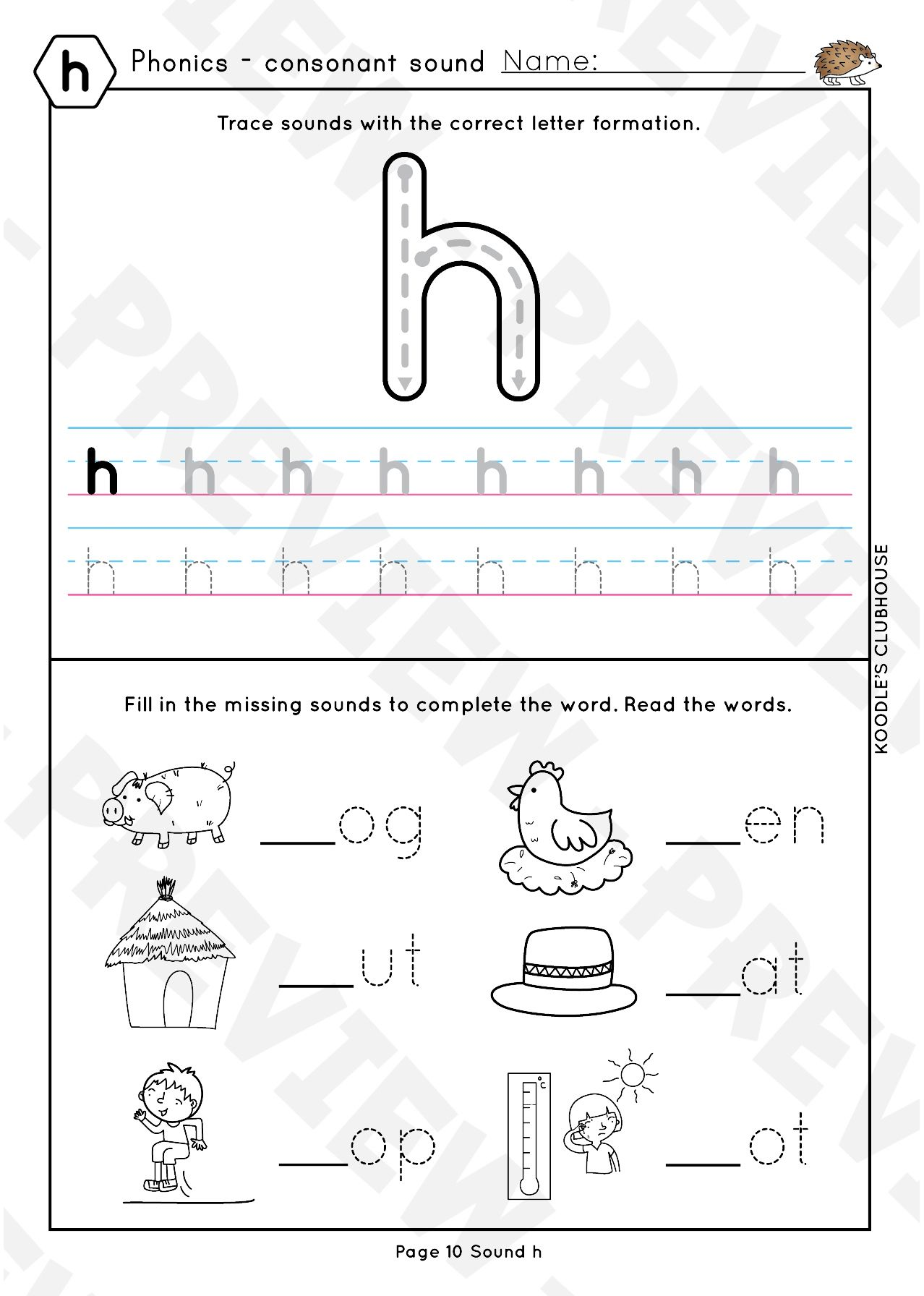Phonics Ckeurhb Worksheets