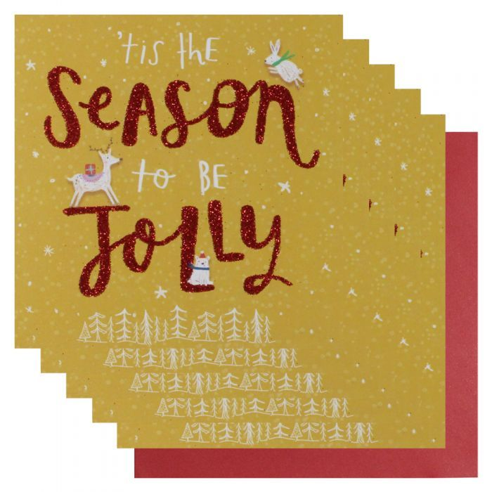 Season to be jolly Christmas cards - pack of 6 - Christmas Cards