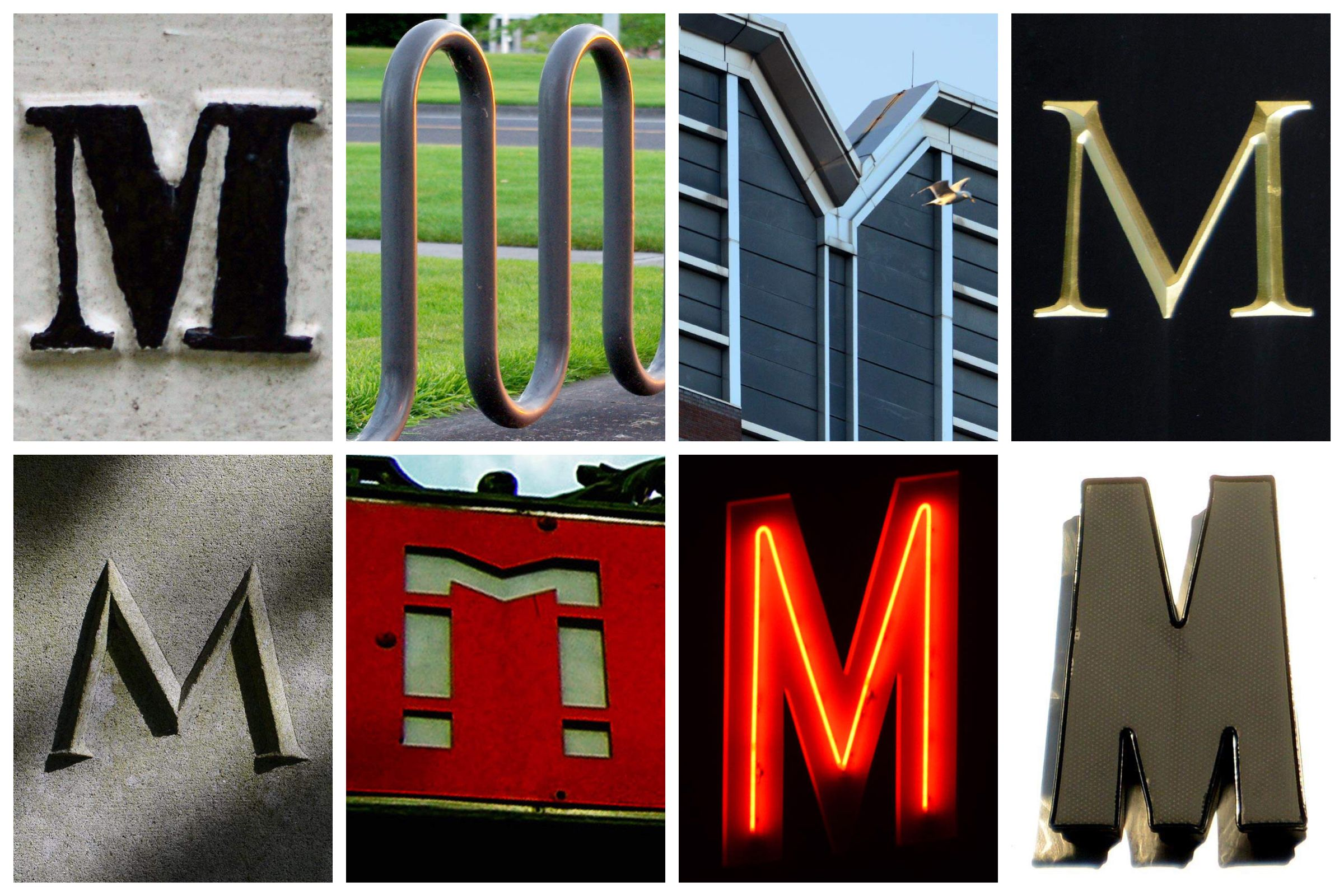the letter M Created with Alphabet Art for iOS