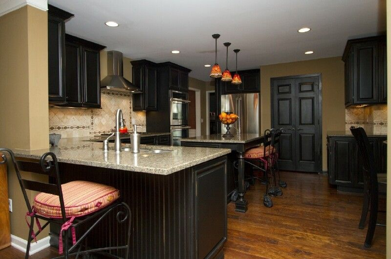 Distressed Black Kitchen Cabinets google image result for http://eniste/images/black-kitchen