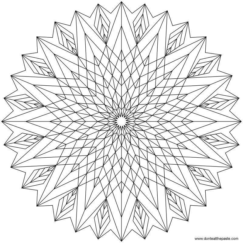 star mandala to color by shala kerrigan donteatthepaste - Intricate Mandalas Coloring Pages