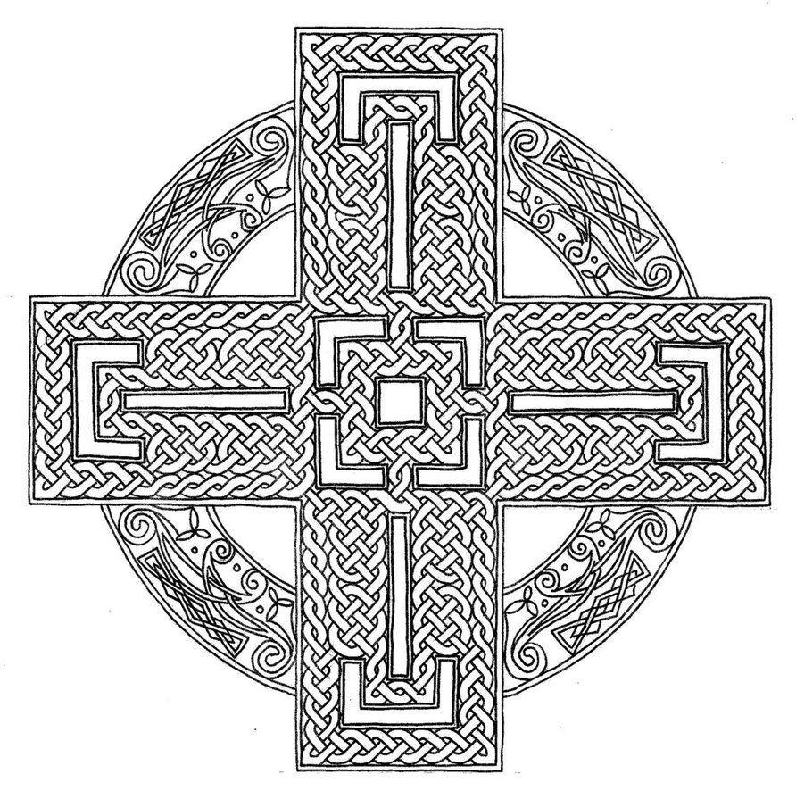 Celtic Cross Coloring Page Advanced Mandala Coloring Pages Cross Coloring Page Dragon Coloring Page