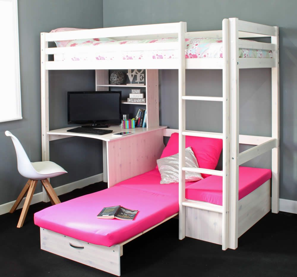 Hit 7 High Sleeper Bed With Pink Chair Bed Hochbett Madchen