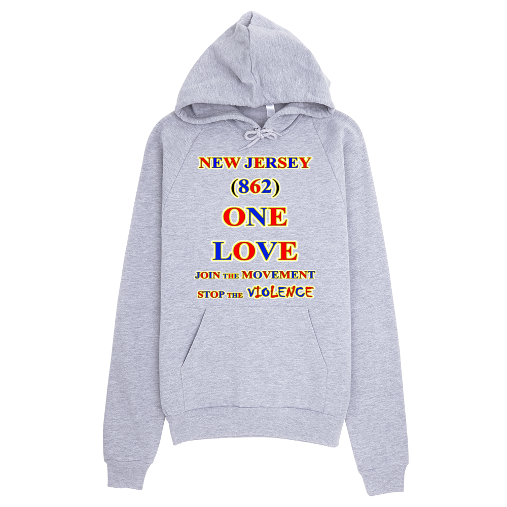 1428H NEW JERSEY Area Code 862 ONE LOVE HOODIE