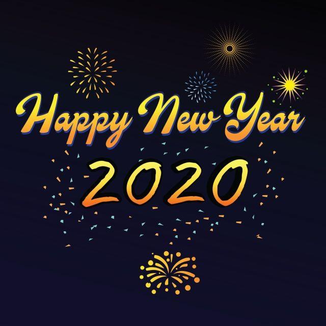 Bonne Année 2020 Avec Des Feux D'artifice Et Des étincelles