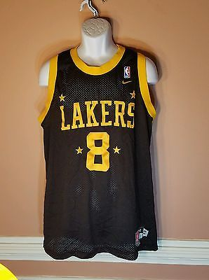7db68c304934 Rare NIKE LOS ANGELES LAKERS KOBE BRYANT 8 VINTAGE AUTHENTIC THROWBACK  JERSEY SIZE M