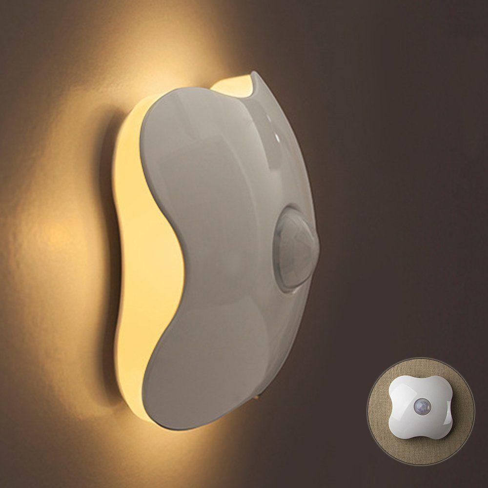 sun4u led motion sensor night light with built in lithium battery