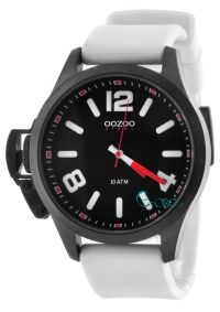 OOZOO Steel XL White Rubber Strap OS384 - http   rologia.org oozoo ... 05a07a1e07f