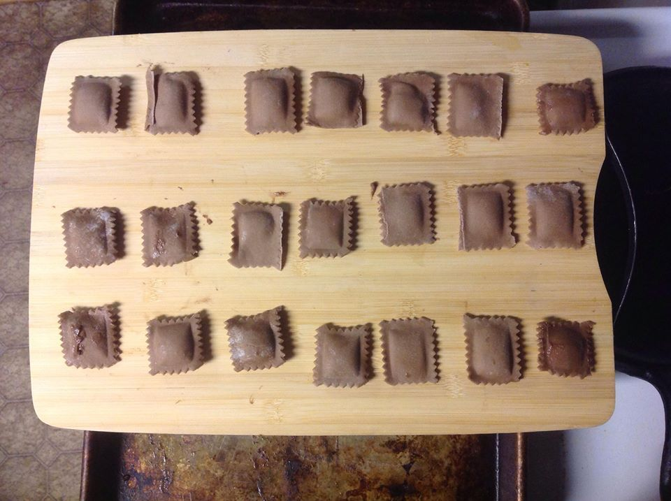 Chocolate Ravioli with chocolate filling.   1 dozen - 9.00 2 dozen - 15.00  Simple Icing can be added to the order for 2.50 more per dozen.