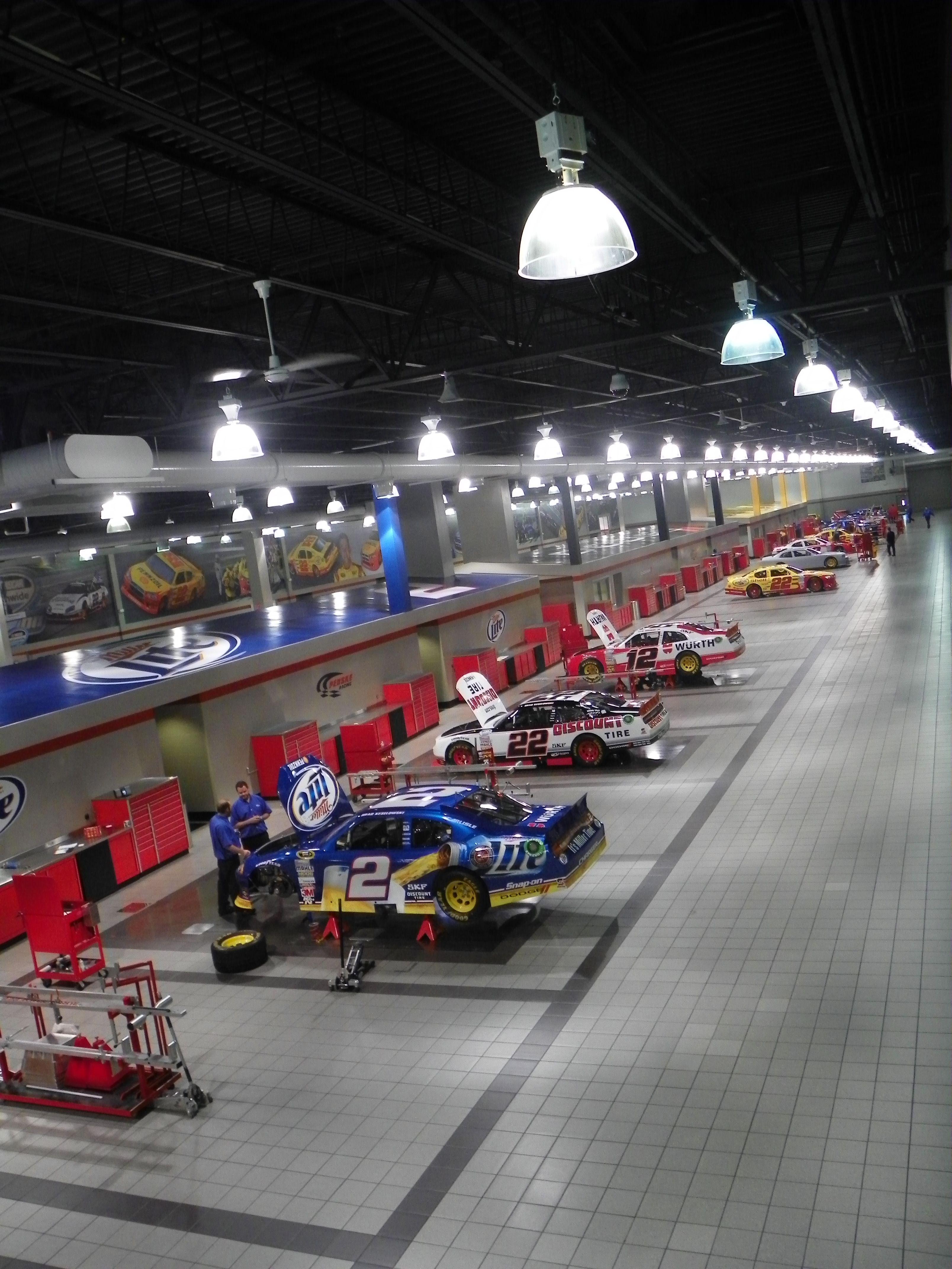 The Race Shop Of Penske Nascar Shop Cool Garages
