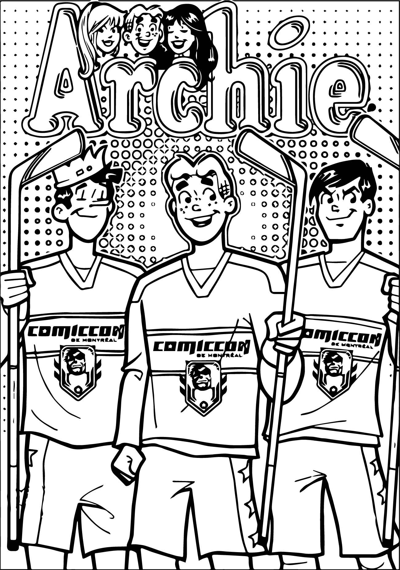 Cool Archie Comics Hockey Coloring Page Archie Comics Comics Coloring Pages