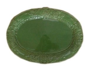 GREEN BAROQUE OVAL PLATTER