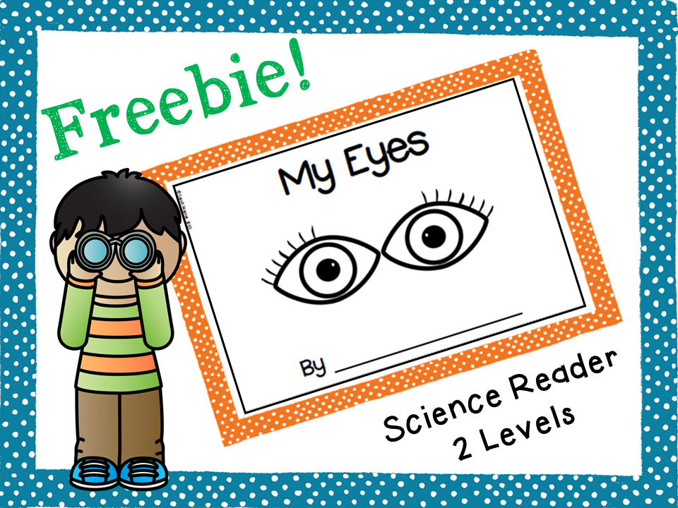 Five senses. FREE science reader, My Eyes. Great for K or 1st! | My ...