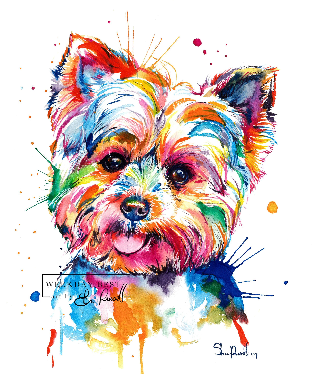 картинки для распечатки собаки цветные качестве отделочного