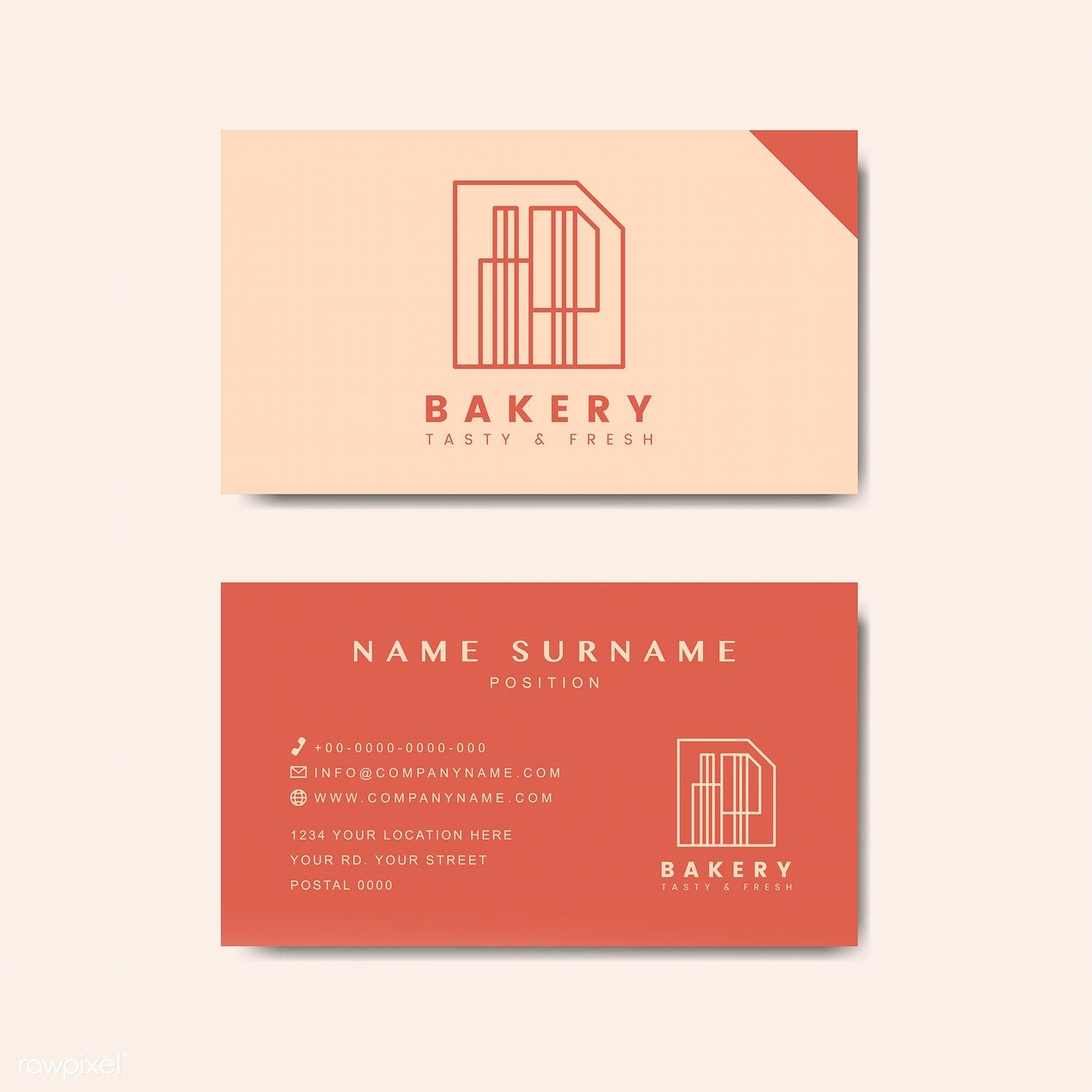 Coffee Shop Business Card Template Vector Free Image By Rawpixel Com Aew In 2020 Business Card Mock Up Professional Business Card Design Business Card Design