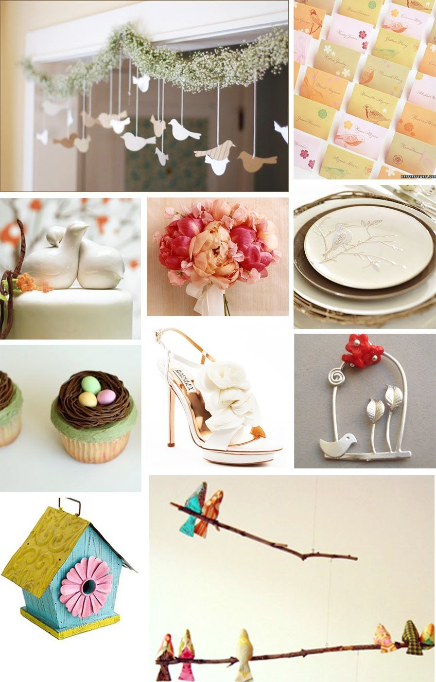 The Artful Bride Wedding Blog: Love Bird Themed Wedding Inspiration ...