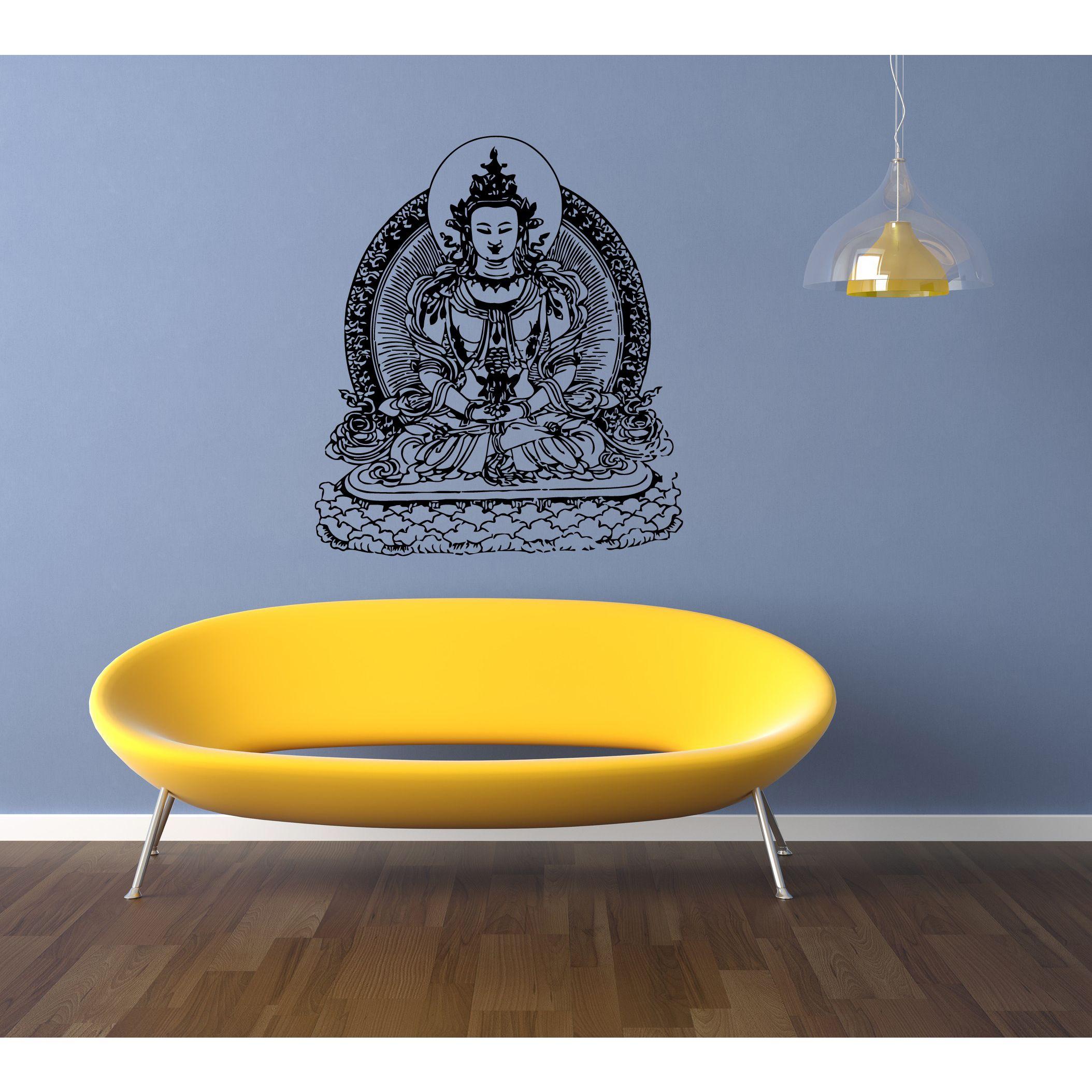 Gautama Buddha Siddhrtha India Wall Art Sticker Decal | Home decor ...