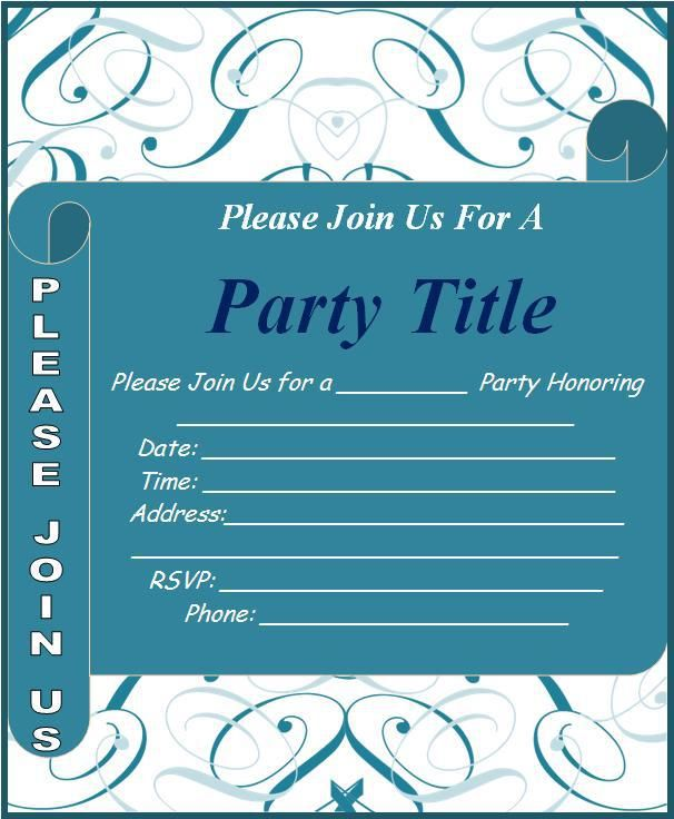 Event Invitation Template Design Work Pinterest Invitation - free party invitation template word