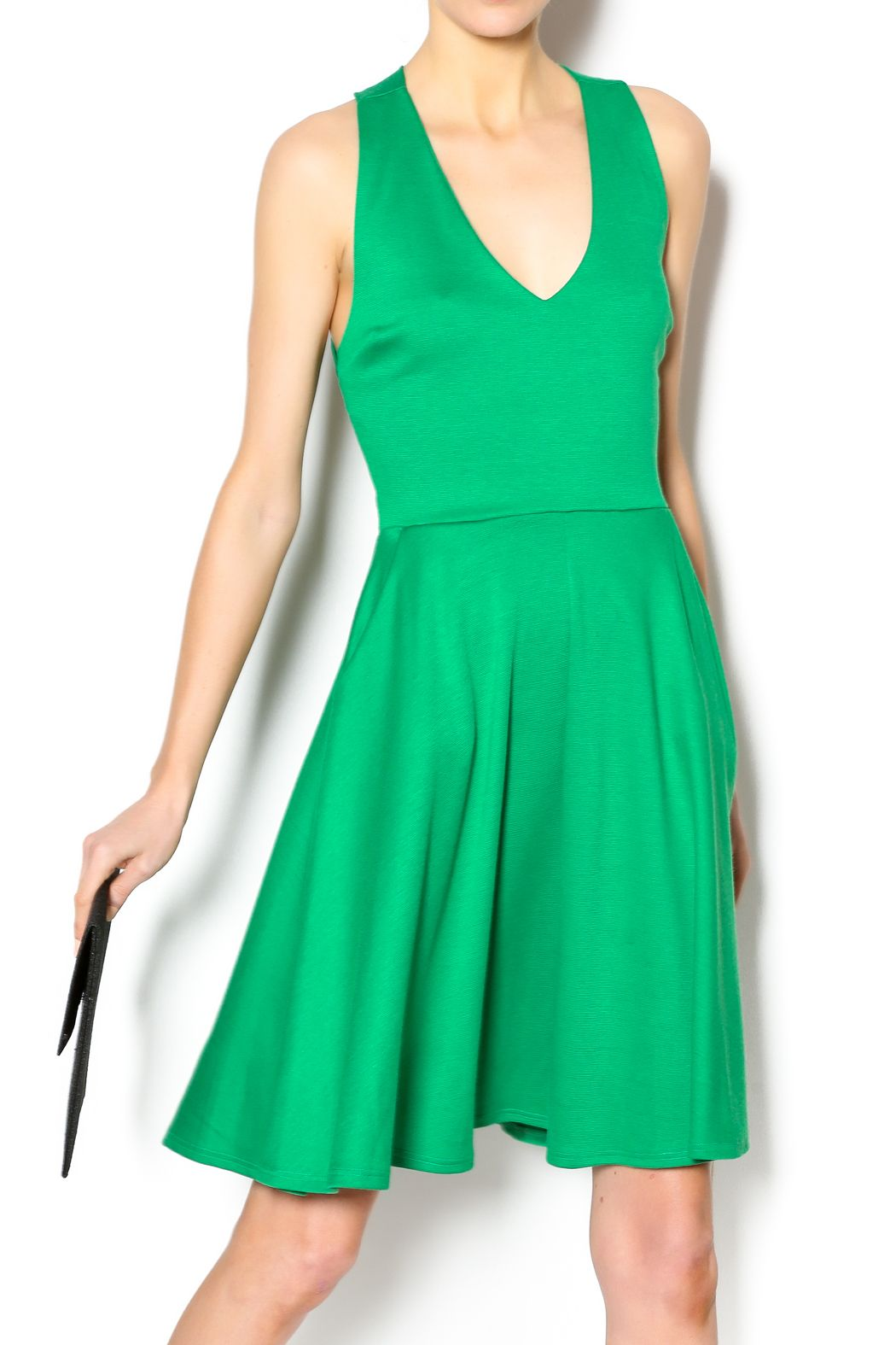 825c0758c174e Block Party · This sleek fit & flare emerald green dress will quickly  become your favorite! The stretch
