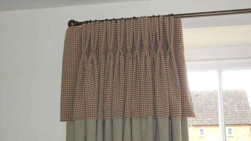 CONTRASTING DOUBLE PLEATED, FLAP-OVER | Blinds and curtains ...