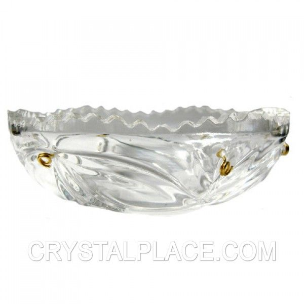 Clear Crystal Bobeche 4.5 Inches With 26mm Center Hole And 6 Pins By Magnificent Crystal  $7.50