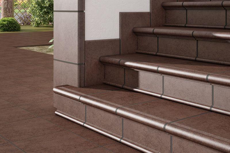 Escalera rodamanto detalle esquina cer mica para - Ceramica para exteriores ...