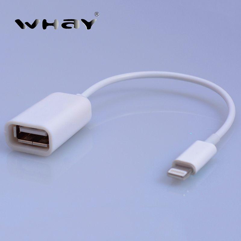 on sale af91e 9db38 Whay usb otg adaptador de cable de otg para el iphone 7 7 plus 6 S ...